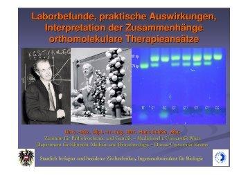 Laborbefunde, praktische Auswirkungen, Interpretation der ...