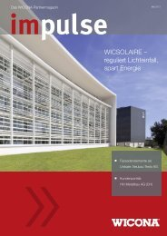 WICSOLAIRE – reguliert Lichteinfall, spart Energie - Wicona.ch