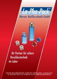 Katalog deutsch - Schmidlin Labor+Service AG