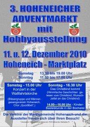 Sonntag - 16.30 Uhr - Marktgemeinde Hoheneich