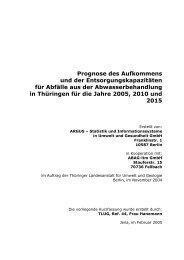 Abfälle aus der Abwasserbehandlung - Thüringer Landesanstalt für ...