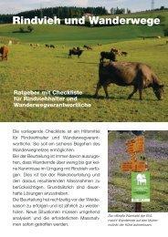Rindvieh und Wanderwege - Schweizerischer Bauernverband