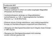 Funktionelle MRT MRT in a nutshell (1) - Protonen oszillieren in ...