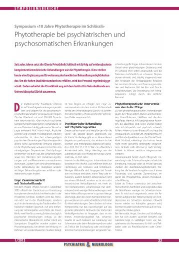 Phytotherapie bei psychiatrischen und psychosomatischen ...
