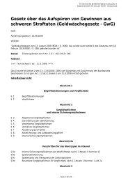 Geldwäschegesetz - GwG