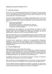Satzung des Turnvereins Hermeskeil 1911 e.V. § 1 - Name, Sitz und ...