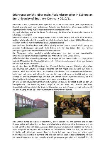University of Southern Denmark, Esbjerg - Leibniz Universität ...