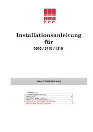 Aficio FX10 Installationsanleitung - Nashuatec