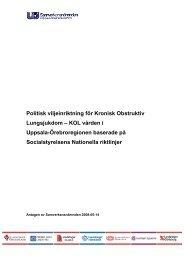 Kronisk Obstruktiv Lungsjukdom - Samverkansnämnden Uppsala ...