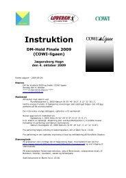 Instruktion - DM Hold 2009