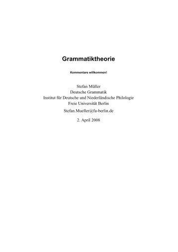 Head-Driven Phrase Structure Grammar. Eine Einführung - German ...