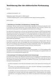 Vereinbarung über den elektronischen Kontoauszug