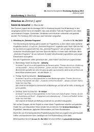 im Ausschreibungstext des Kirchentags - Arbeitsgemeinschaft der ...