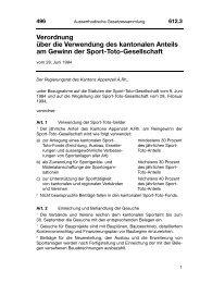 Verordnung über die Verwendung des kantonalen Anteils ... - LexFind