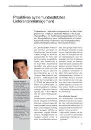 Proaktives systemunterstütztes Lieferantenmanagement - Q_PERIOR