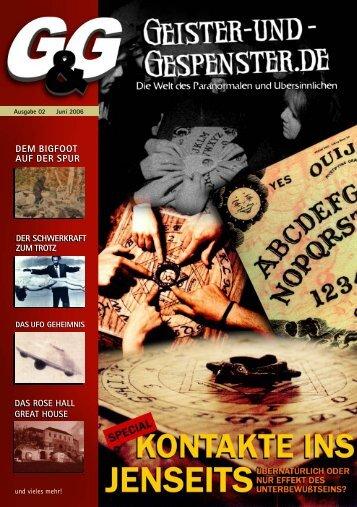 Ausgabe 2 in Juni 2006 - Geister & Gespenster