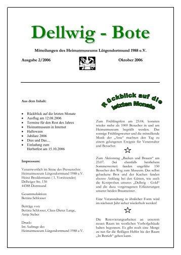 Ausgabe 2006/2 - Heimatmuseum Lütgendortmund 1988 eV
