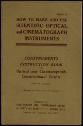 SCIENTIFIC OPTICAL and CINEMATOGRAPH INSTRUMENTS