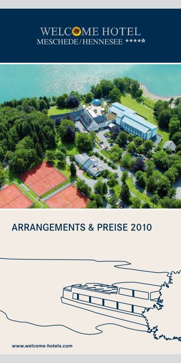 ARRANGEMENTS & PREISE 2010 - Welcome Hotels