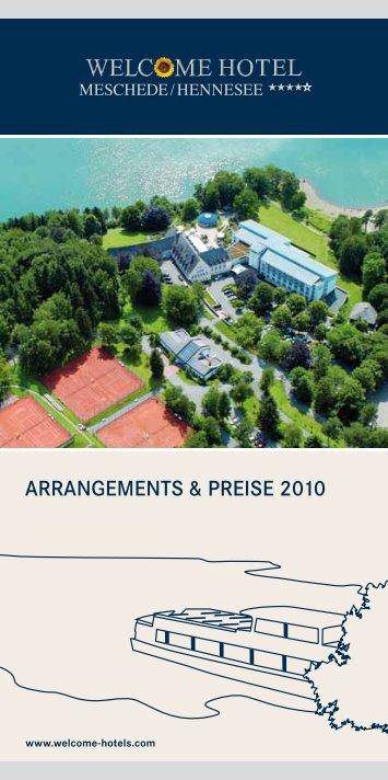 ARRANGEMENTS & PREISE 2010 - Welcome Hotels
