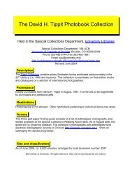 The David H. Tippit Photobook Collection - University Libraries ...