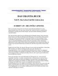 Das Urantia Buch - Schrift 139 - Die Zwölf Apostel