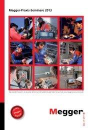 MQS-Seminar-Katalog - Megger-Quality-Seminare