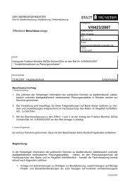 Beschlussvorlage - Vorlage V/0423/2007