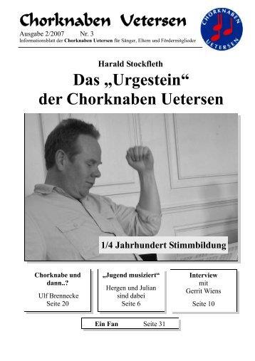 "Chorknaben Uetersen Das ""Urgestein"" der Chorknaben Uetersen"