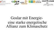Goslar mit Energie