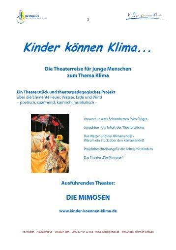 Das Projekt Kinder können Klima... vom Theater DIE MIMOSEN
