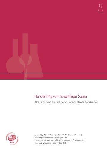 Herstellen schwefliger Säure - Arbeitgeberverband Chemie ...