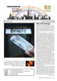 Nr. 1 Dezember 2010 / Januar 2011 - Ev.-luth. Kirchengemeinde ...