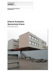 Bericht externe Evaluation 2012/13 - Sportschule Kriens
