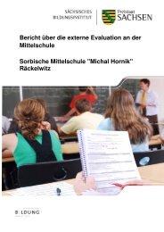 Bericht über die externe Evaluation an der Mittelschule Sorbische ...