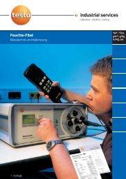 Kalibrierfibel Feuchte - Testo Industrial Services GmbH
