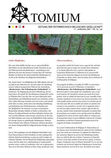 11. JAHRGANG 2007 / NR. 42, Juli - Österreichisch-Belgische ...