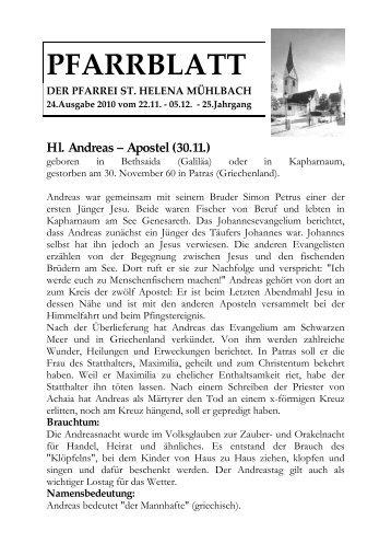 Pfarrblatt Nr. 24/2010 (254 KB) - .PDF