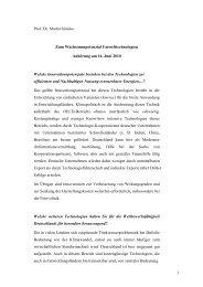 Stellungnahme Prof. Dr. Martin Jänicke - Deutscher Bundestag