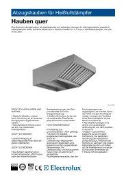 Abzugshauben für Heißluftdämpfer - Electrolux