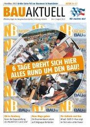 Ausgabe August 2013 - Baugewerbeverband Schleswig-Holstein
