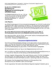 Rundbrief - Die Grünen Essen