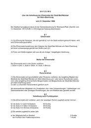 Satzung über die Verleihung der Ehrennadel der Stadt Bad Münster ...