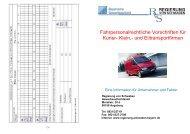 Fahrpersonalrechtliche Vorschriften für Kurier- Klein,- und ...