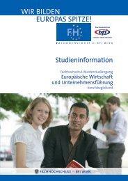 Studieninformation EWUF MA (PDF, 459,00 kB) - Fachhochschule ...