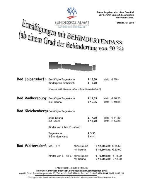 Bad Waltersdorf: Mo. – Fr.: - Was ist CMT?