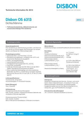 Disbon OS 6313 - Alsecco