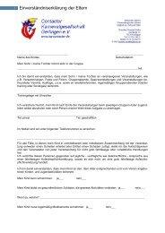 Einverständniserklärung der Eltern - Contacter KG Gerlingen eV