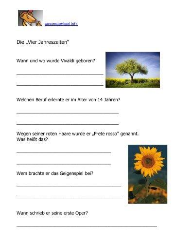 Arbeitsblatt: Das Wetter und die Jahreszeiten A. Wetterwortschatz ...