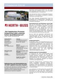 Details nachlesen - iCAS AG